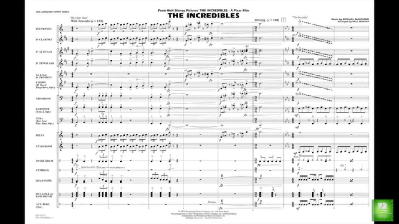 The Incredibles by Michael Giacchino/arr  Paul Murtha