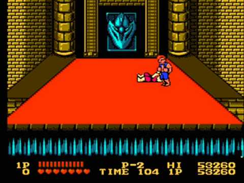 Double Dragon 1 Nes Mission 4 Part 2 Final Boss Battle And Ending Youtube