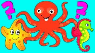 Кто живет в море? Загадки про морских животных для детей. Мультик для малышей +0