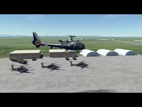 DCS, Gazelle, parking in hangar, no SAS, tuition.