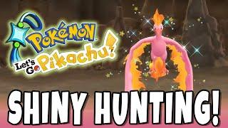 LEGENDARY MOLTRES SHINY HUNTING DAY 4! Pokemon Let's GO Shiny Living Dex #146