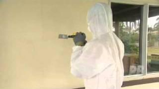 drilling into asbestos sheets.mpg