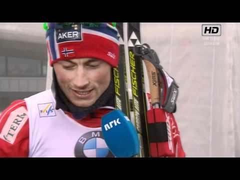VM Men's Team-Sprint Holmenkollen 2011 - Petter Northug INTERVIEW