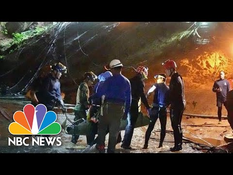 Video From Inside Thai Cave Shows Parts Of Harrowing Rescue | NBC News