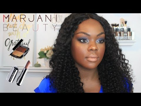 REVIEW   HOLIDAY GLAM featuring MARJANI BEAUTY #POC - YouTube