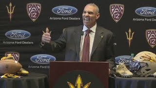 Herm Edwards gets fired up during introductory news conference with Arizona State | ESPN