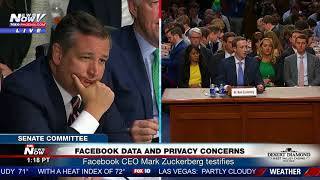 TED CRUZ GRILLING: Facebook CEO Mark Zuckerberg Under Fire (FNN)