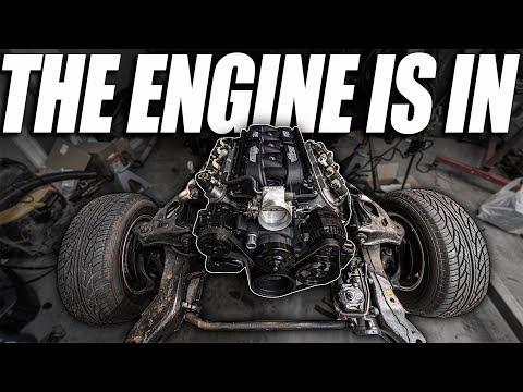 THE ENGINE IS IN!!! (1973 Camaro LS Swap)