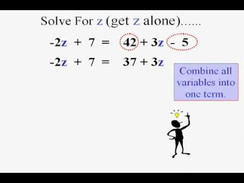 Beginning Algebra & Solving Algebraic Equations