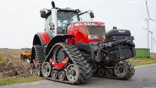 Land bewerken met: Massey Ferguson 8690 Dyna VT op Zuidberg Tracks.