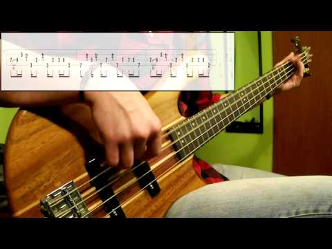 Cake - The Distance (Bass Cover) (Play Along Tabs In Video)