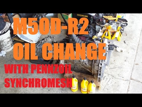 M5OD-R2 Break In Oil Change Using Pennzoil Synchromesh