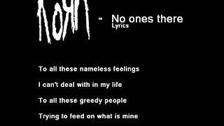 KoRn   No one's there LYRICS
