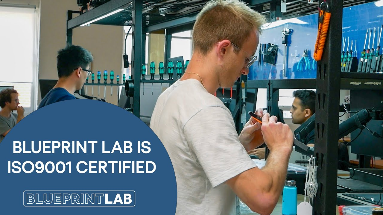 Blueprint Lab is ISO9001 Certified!