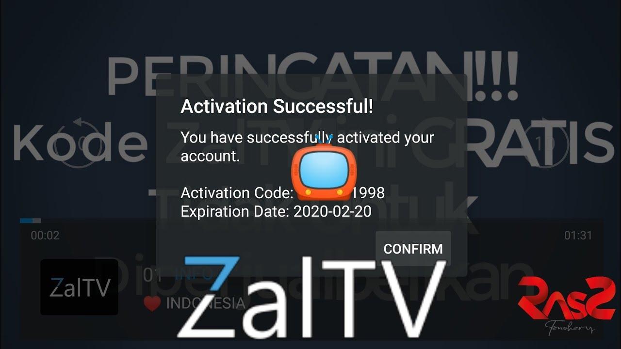 Zaltv activation code 2020