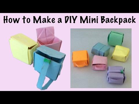 How to Make a DIY Mini Backpack