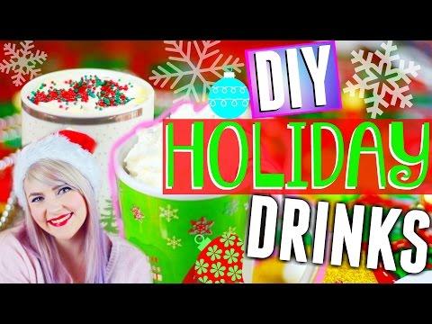 DIY: Holiday Drinks! Sugar Cookie Hot Chocolate + Candy Cane Milkshake!