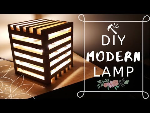 DIY| MODERN LAMP| easy wooden projects\crafts| Nails n Needles
