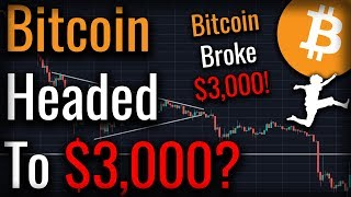 Bitcoin Dropped To $3,500! Is Bitcoin Headed To $3,000?