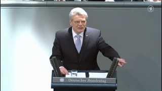 Antrittsrede von Bundespräsident Joachim Gauck