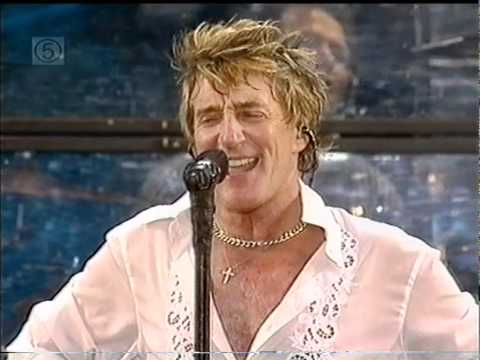 Rod Stewart - I don't wanna talk about it (Live Safeway)
