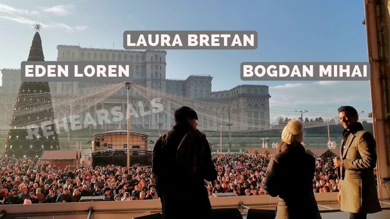 """Laura Bretan & Bogdan Mihai & Eden Loren - Rehearsals """"O sole mio"""" (08/12/2019)"""