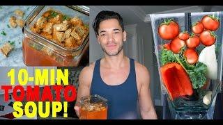 Healthy Recipes   10-Min Tomato Kale Soup