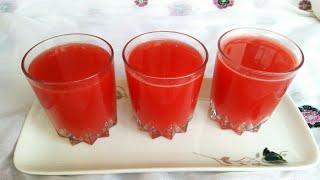 তরমুজের শরবত / জুস    Tormujer shorbot / juice    Easy water melon juice