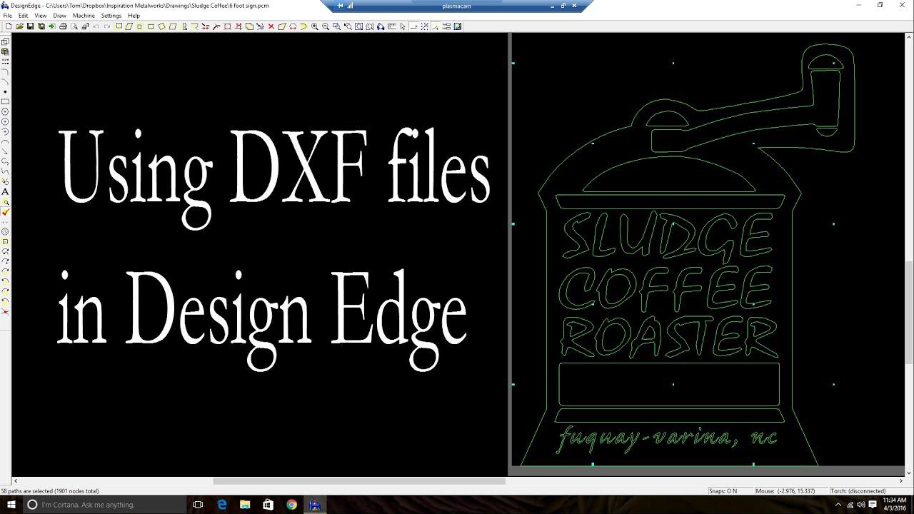 Plasmacam for sale craigslist - Design Edge Working With Dxf Files