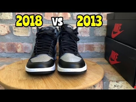 """2013 vs 2018 Air Jordan 1 """"Shadow"""" Comparison"""