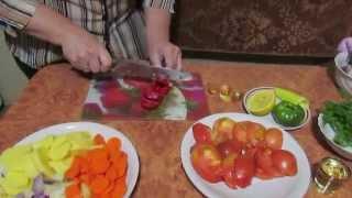 """""""Щука  с овощами"""" в духовке"""