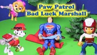 PAW PATROL Nickelodeon Paw Patrol Bad Luck Marshall a Paw Patrol Video Parody