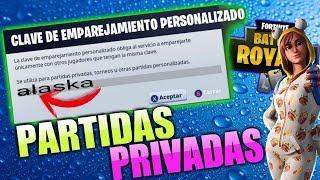 PARTIDAS PERSONALIZADAS // PARTIDAS PRIVADAS ( CON CLAVE) // FORTNITE EN VIVO