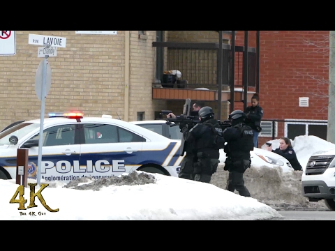 Montreal: Armed bank robbery with SWAT intervention 2-21-2017