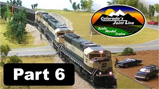 Model Railroad Layout Ops Session (Part 6 of 6) with ATSF, BN, SP, & D&RGW Trains