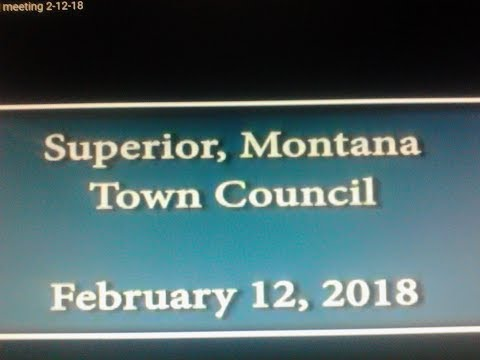 Superior, Montana Town Council meeting 2-12-18