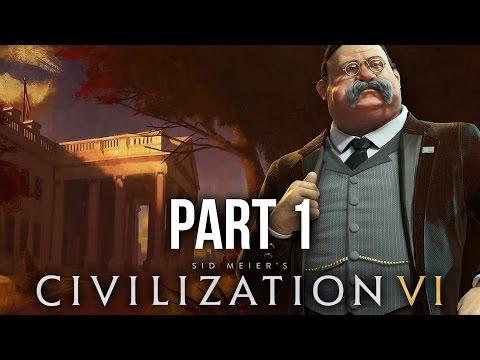 Civilization 6 Gameplay Walkthrough Part 1 - AMERICA (Civilization VI)