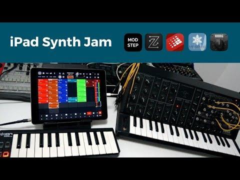 iPad Synth Jam: ModStep, Zeeon, BeatHawk, Mersenne & Korg iMS-20