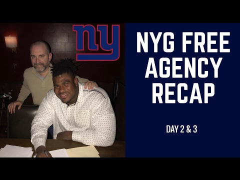 New York Giants Free Agency Recap Day 2 & 3