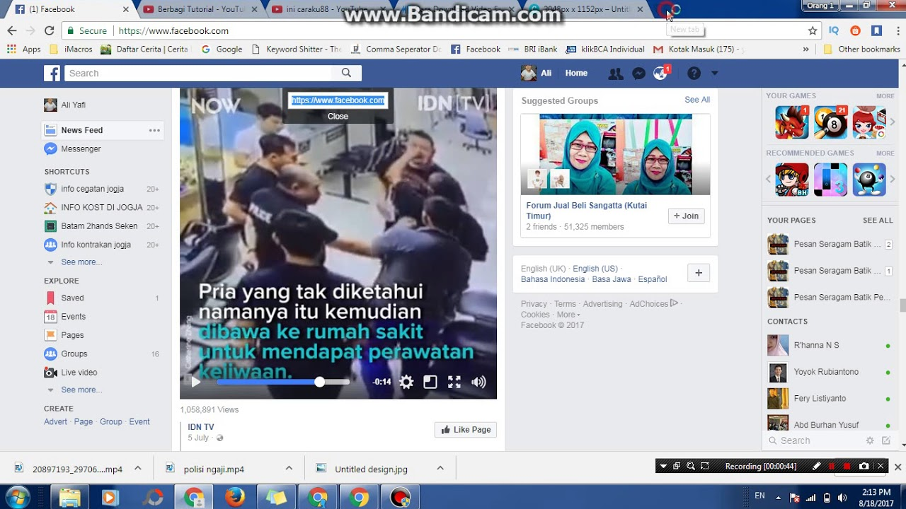 video facebook chrome dengan dari cara google