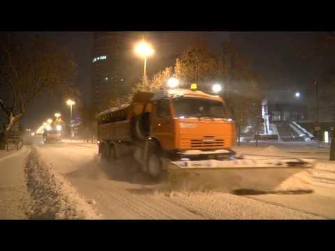 Ночной пресс-тур по уборке снега в Екатеринбурге