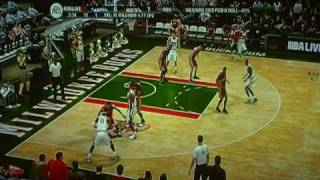 NBA Live 09 Rewind Game: Cavs vs Bucks 1Q