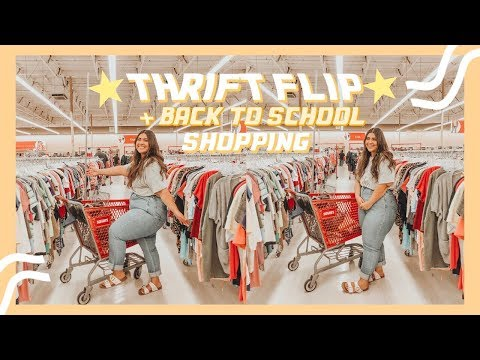 ⭐️THRIFT FLIP ⭐️ Come Thrifting with me for my Back to School Clothes🎒📒