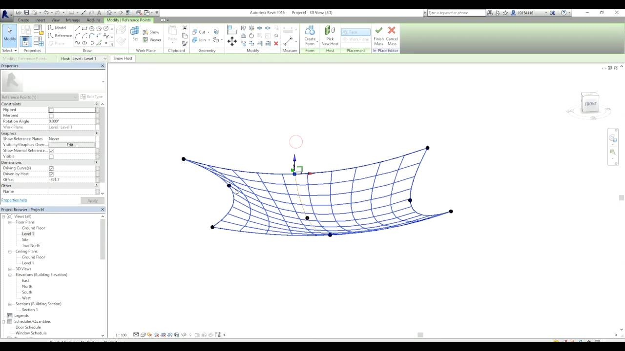 How to create a sail shade in Revit  sc 1 st  YouTube & How to create a sail shade in Revit - YouTube