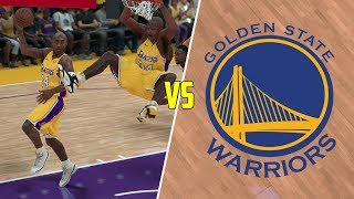 Can Shaq and Kobe Beat The Warriors Playing Alone? NBA 2K18 Challenge!