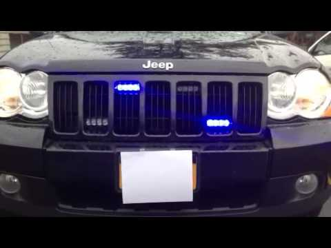 Jeep Grand Cherokee Blue Grille Lights