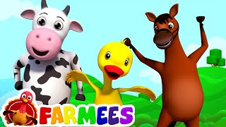 Repeat youtube video If you're happy and you know it | farmees | nursery rhymes | kids songs