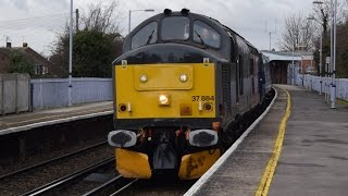 Rail Operations Group 37884 Darth Vader and Ilkley moor bah tat at Whitstable and Minster 14/1/17