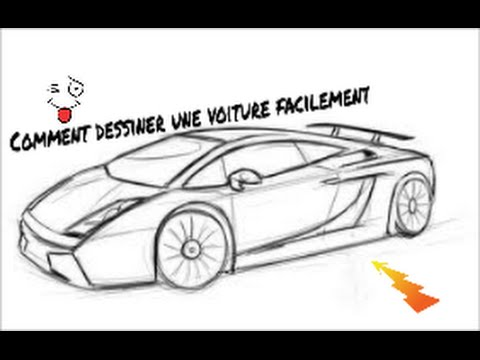 comment dessiner une voiture rapidement et facilement youtube. Black Bedroom Furniture Sets. Home Design Ideas