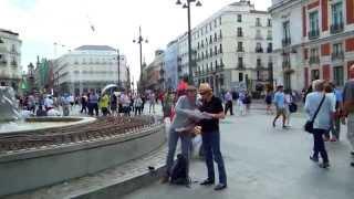 アキーラさん散策①スペイン・マドリッド・プエルタ・デル・ソルの広場!Puerta-del-Sol,Madrid,Spain